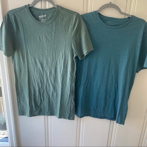 Bundle of 2 Teal & Green Crewneck Cotton T-Shirts